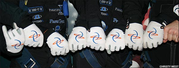Skydive Chicago gloves
