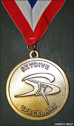 Skydive Spaceland Nationals Medal
