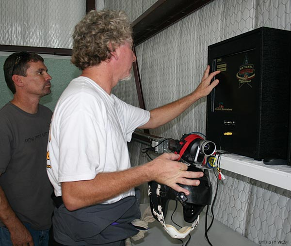 Dubbing a video into CamScore at the 2009 Nationals