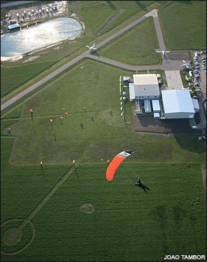 Landing at Skydive Spaceland