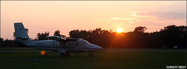 Sunset at Skydive Spaceland