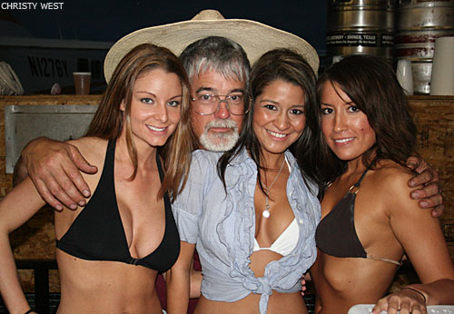 Max and the Hooters girls who served beer from the truck