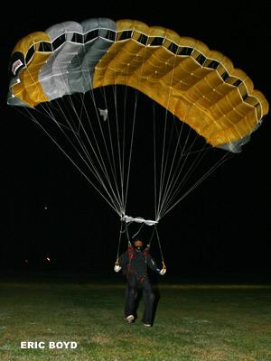 George Dickinson landing