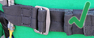 Misrouted chest strap